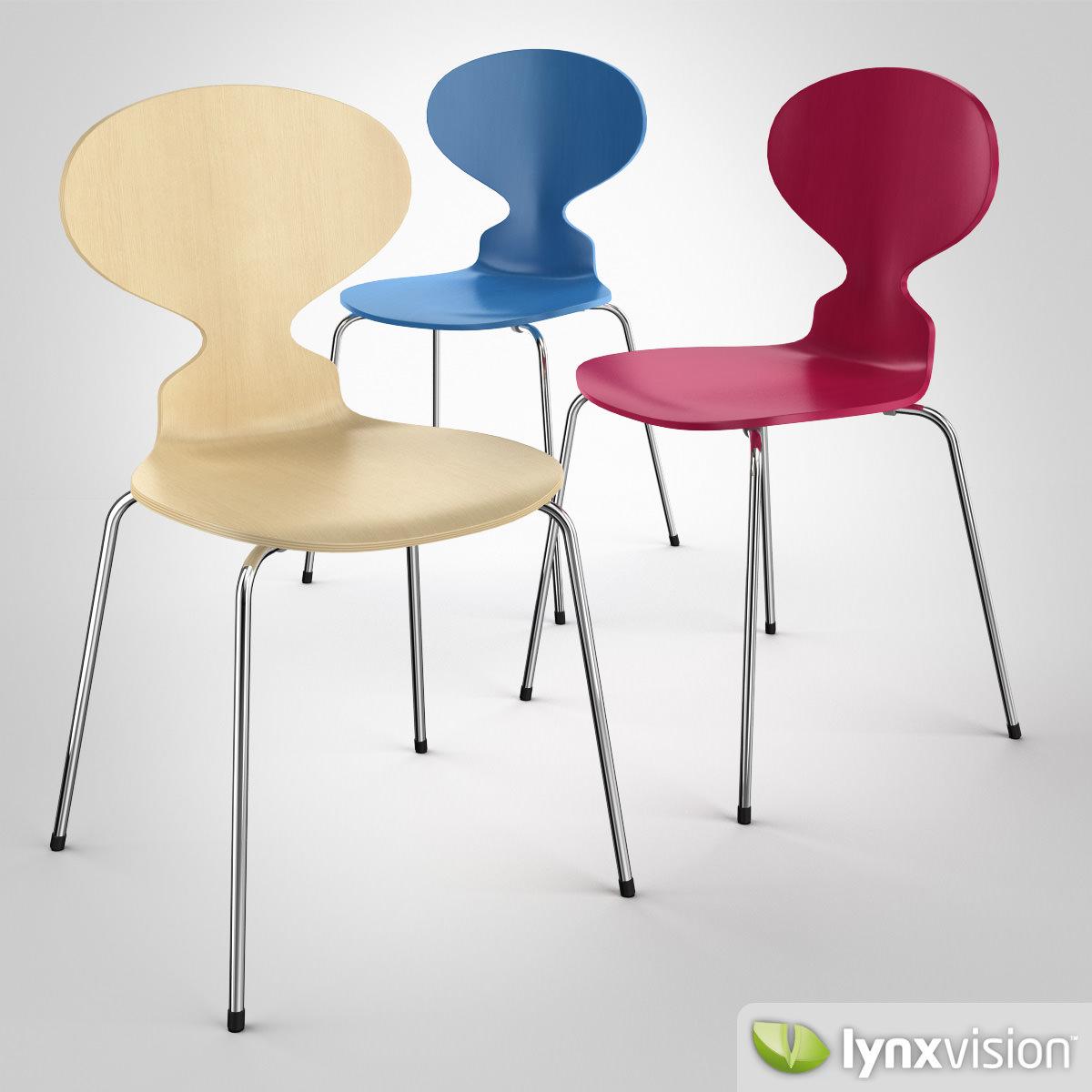 Charmant The Ant Chair 3d Model Max Obj Fbx Mtl 1 ...
