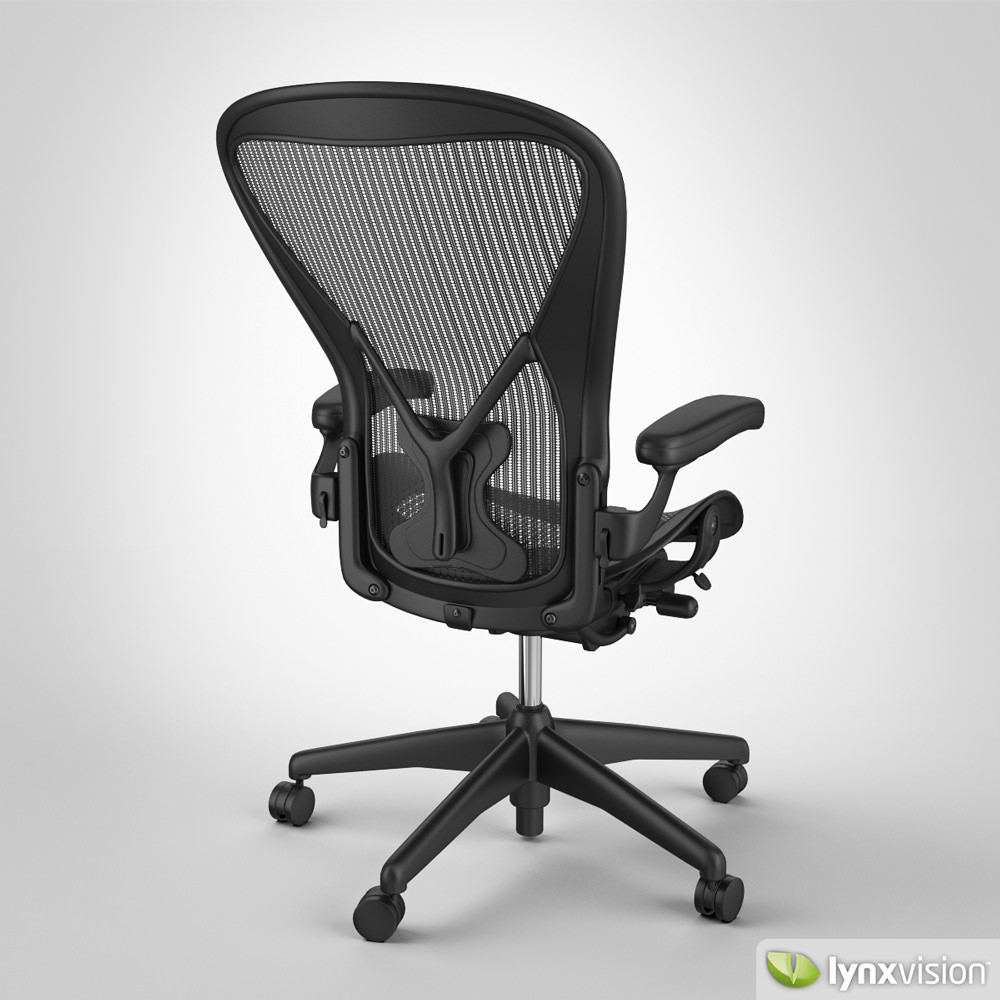 aeron chair by herman miller 3d model max obj fbx. Black Bedroom Furniture Sets. Home Design Ideas