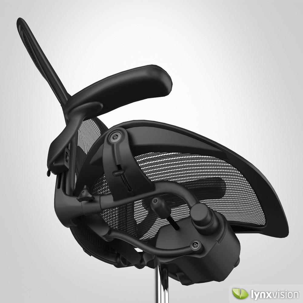 Herman miller aeron chairs -  Aeron Chair By Herman Miller 3d Model Max Obj Fbx Mtl 2