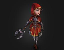 Medieval chibi warrior 3D Model
