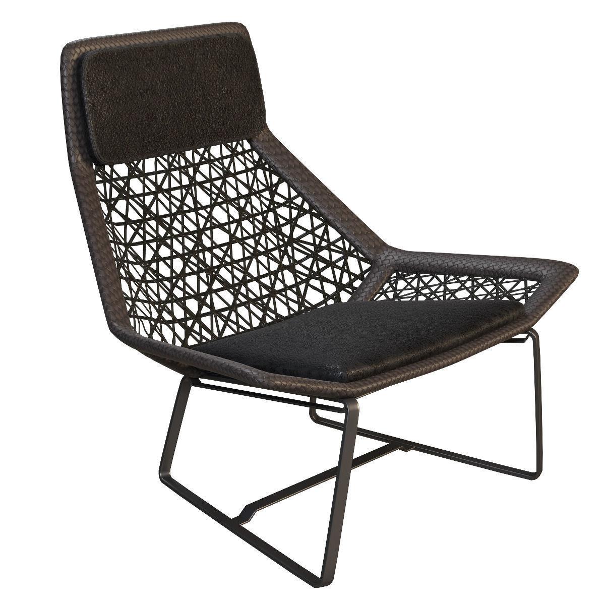 Etonnant Outdoor Wicker Chair Maia Of Kettal 3d Model Max Obj Mtl 3ds Fbx 1 ...