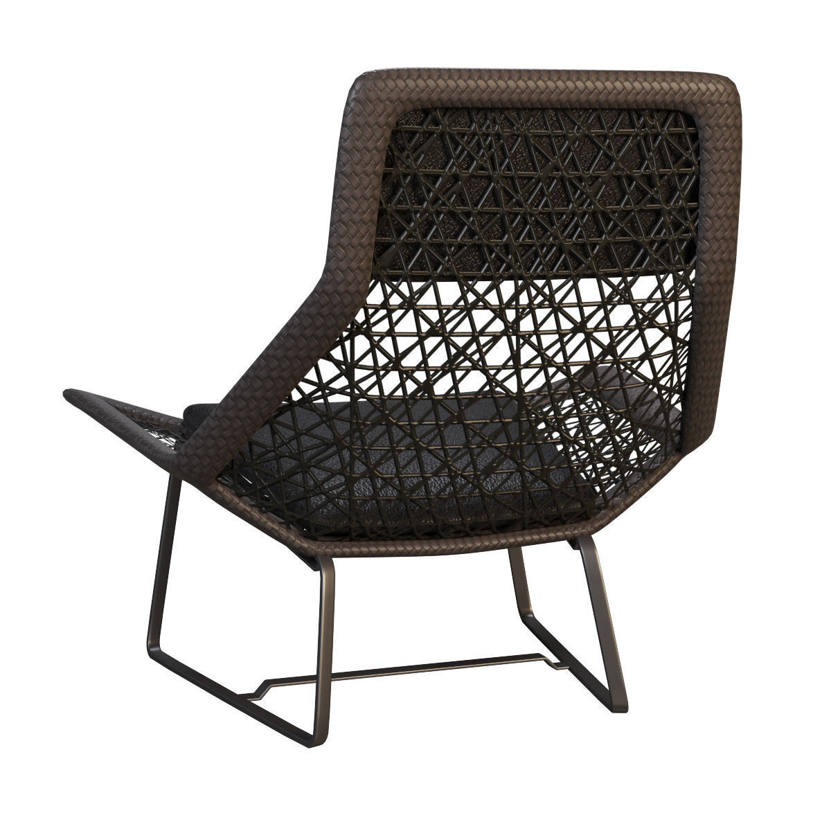 Outdoor wicker chair maia of kettal 3d model max for Kettal maia chair