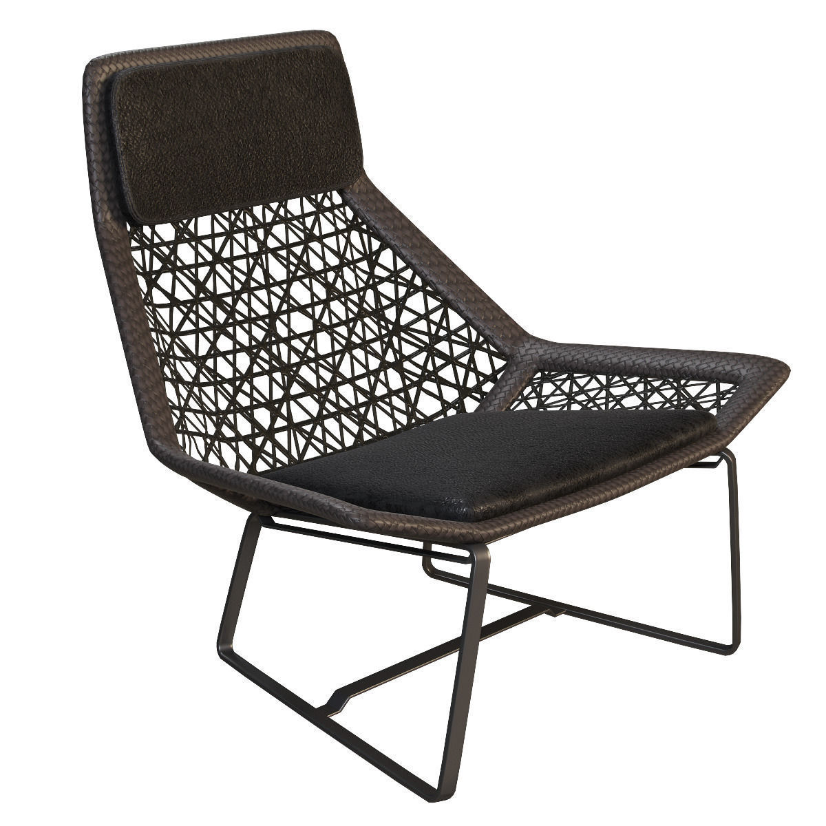 outdoor wicker chair maia of kettal 3d model max