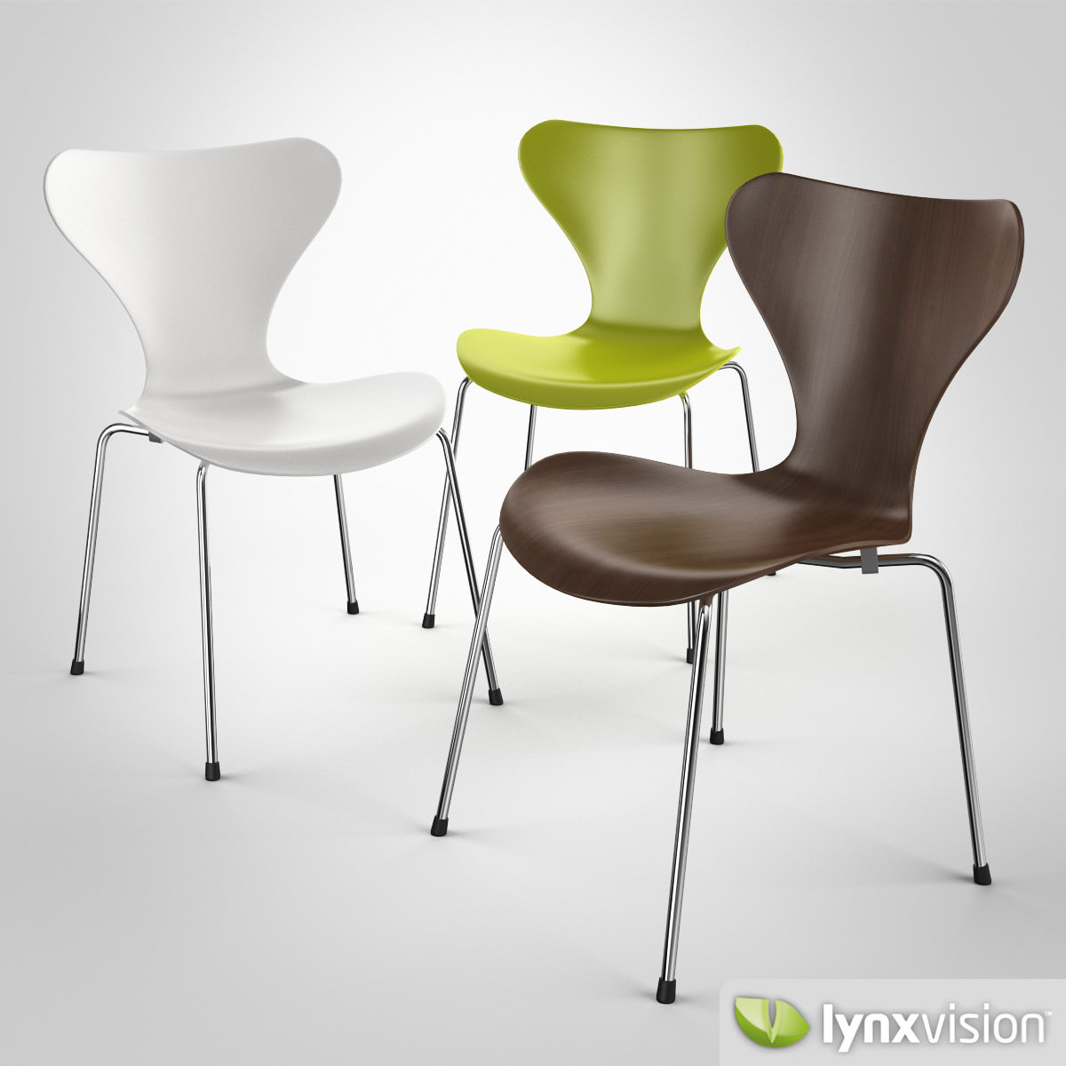 serie 7 chair by arne jacobsen 3d model max obj fbx. Black Bedroom Furniture Sets. Home Design Ideas