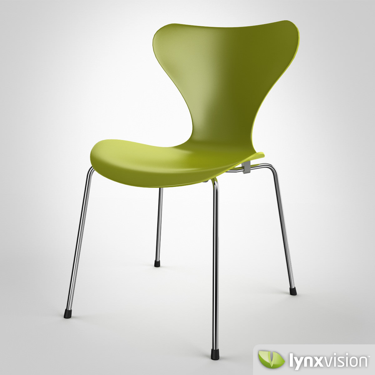 ... Serie 7 Chair By Arne Jacobsen 3d Model Max Obj Fbx Mtl 2 ...