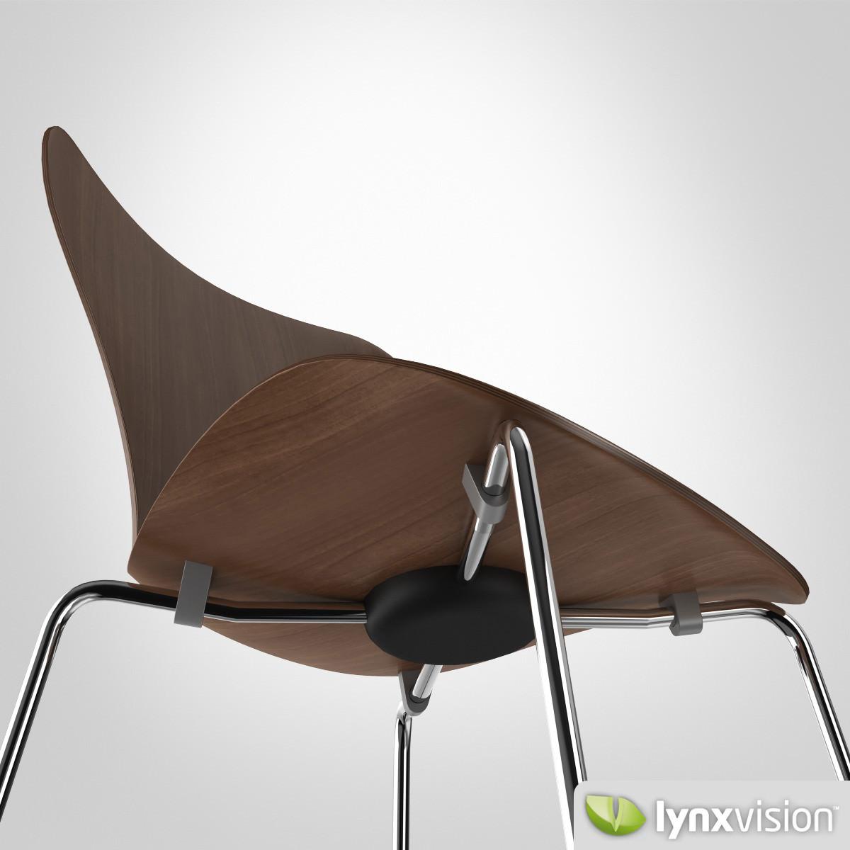 Serie 7 Chair By Arne Jacobsen Model Max Obj Fbx Mtl 5