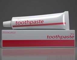 3d model toothpaste ointment  realtime