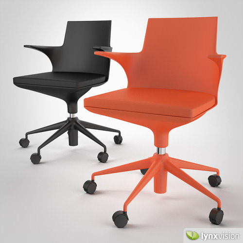 Black and Orange Hi Pad Chairs3D model