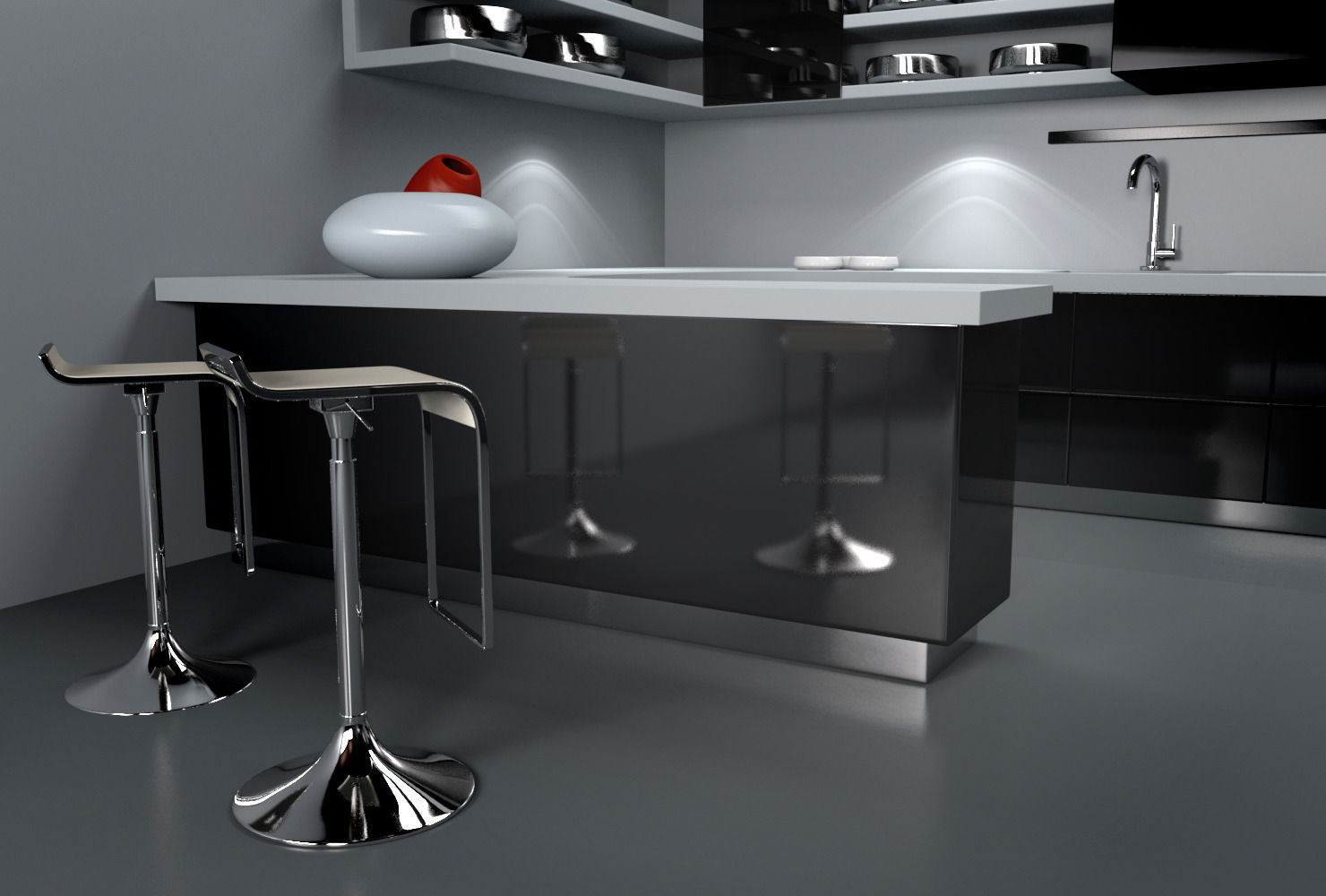 Kitchen 3d model ma mb for Model kitchen photo