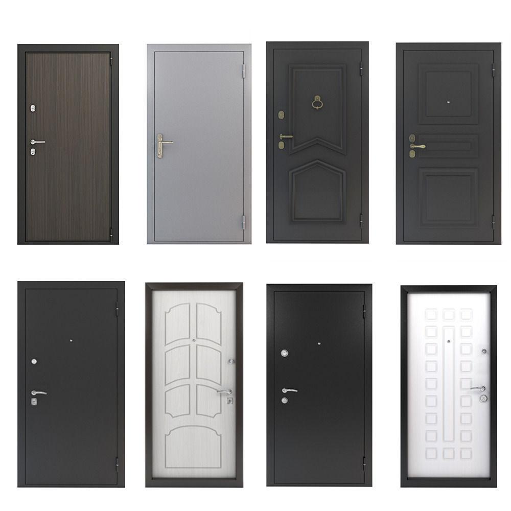 Front doors set 3d model max for Front door models