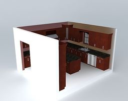 Free Kitchen 3D Models Architectural Interior Max Obj 3ds 3d Print Anim
