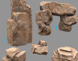 3d asset Rock Set