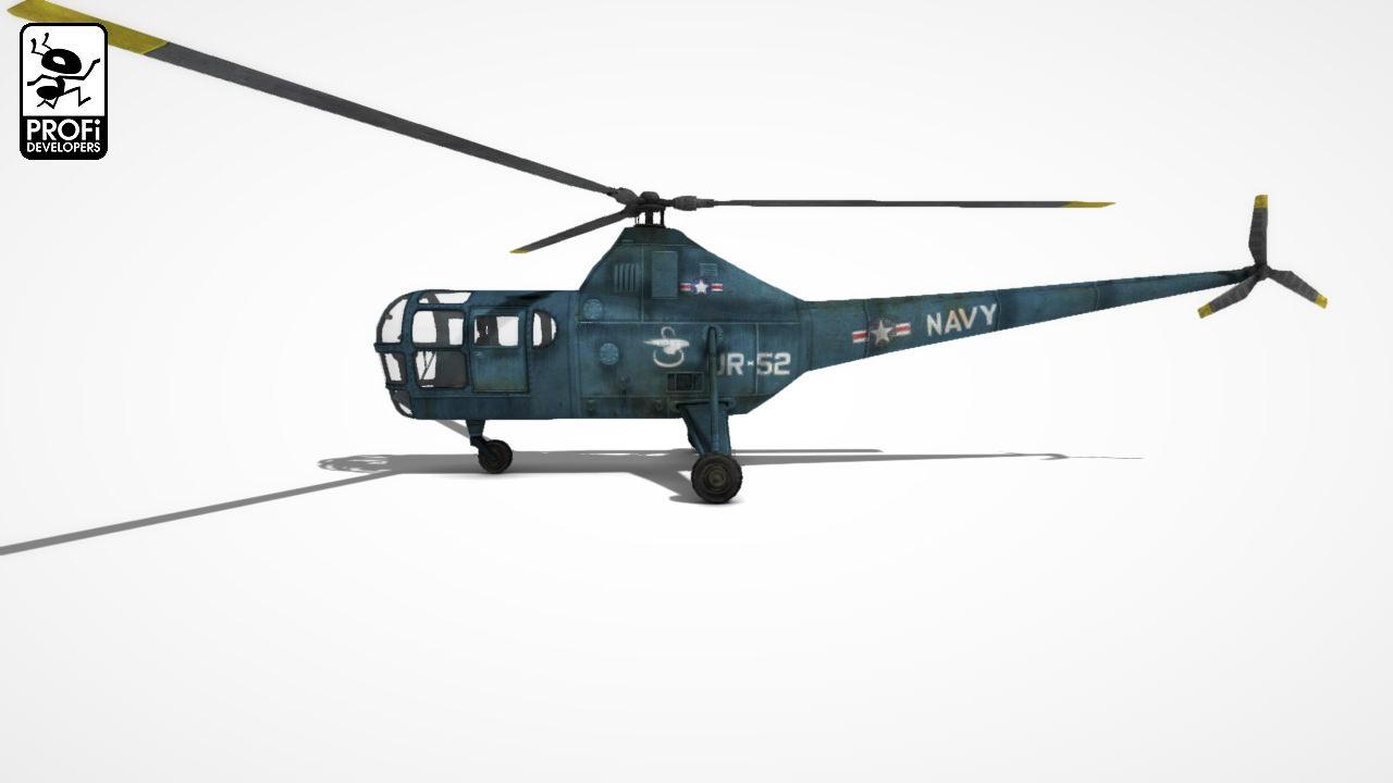 Elicottero Sikorsky : Helicopter sikorsky s d model game ready max obj fbx