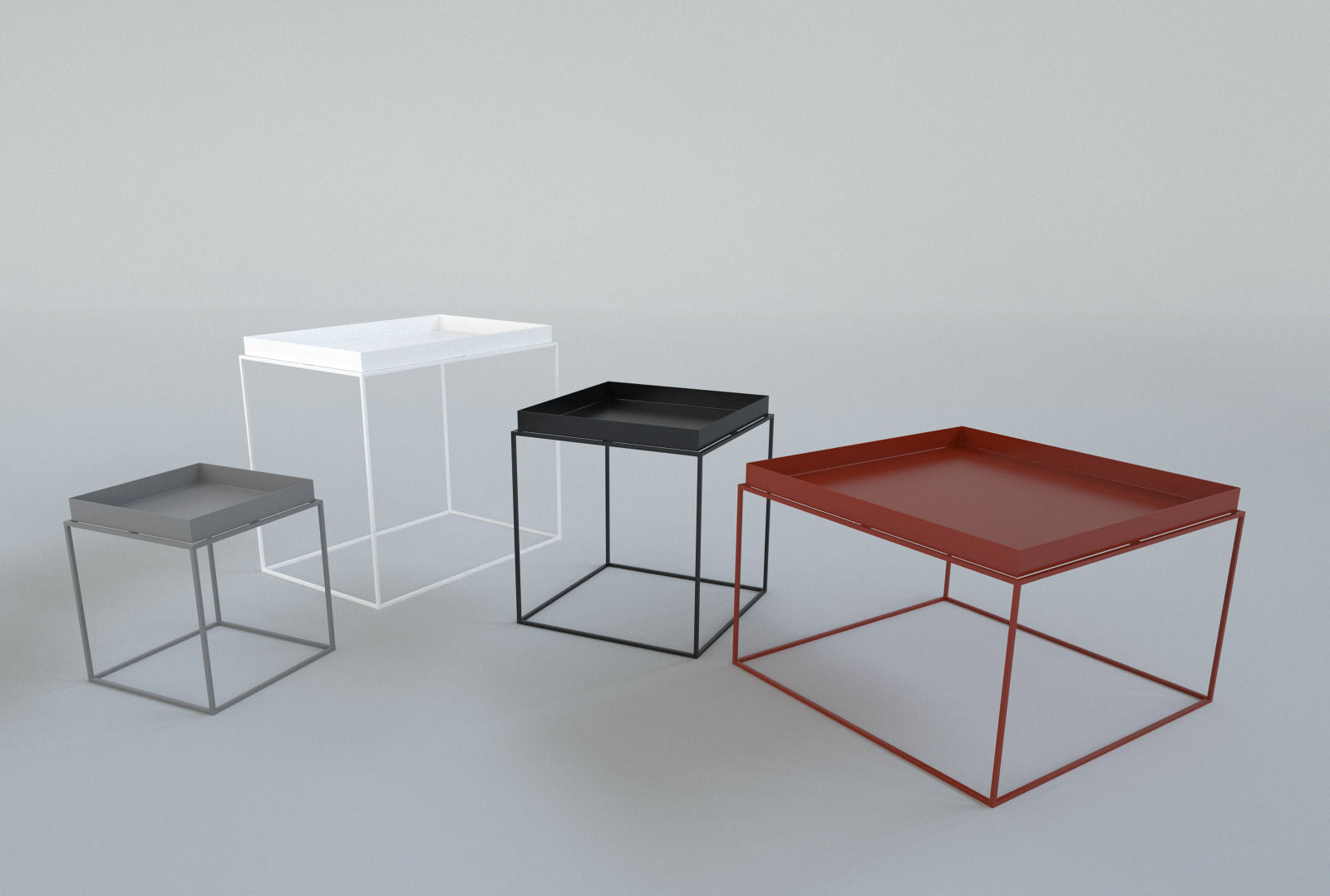hay tray table 3d model max obj fbx