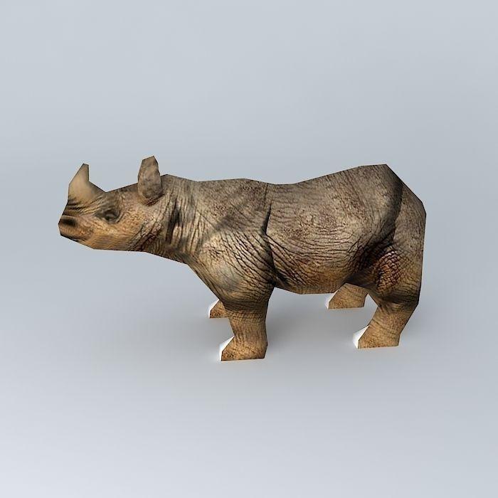 Rhino Free 3D Model MAX OBJ 3DS FBX STL DAE