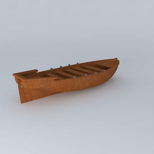 rowboat 3d model max obj mtl 3ds fbx stl dae 1