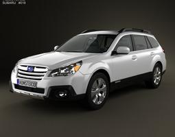 3D model Subaru Outback limited US 2013