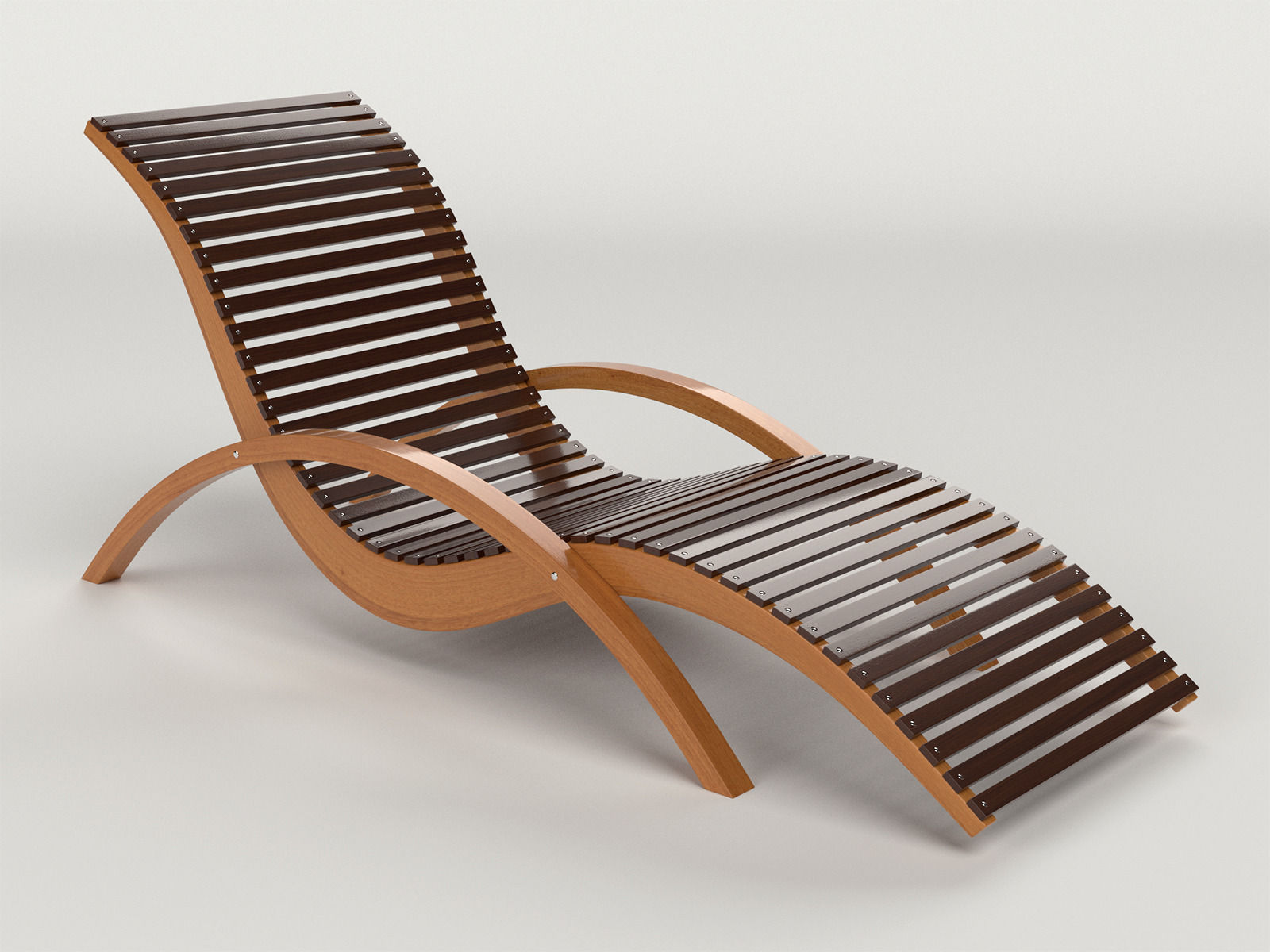 Lounge Chair Outdoor Wood Patio Deck 3d Model Obj Dxf Mtl 1 ...