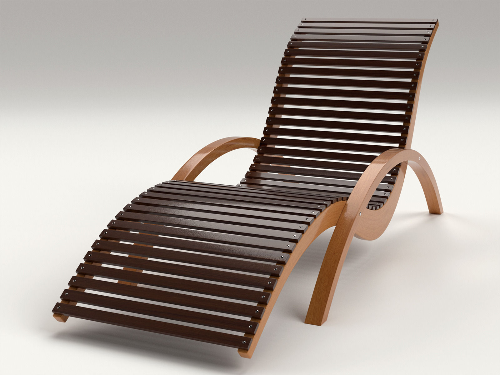 ... Lounge Chair Outdoor Wood Patio Deck 3d Model Obj Dxf Mtl 2 ...