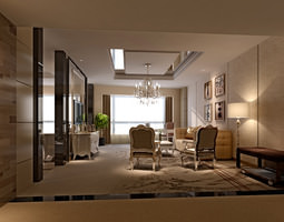 3D Photoreal bedroom