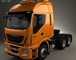iveco stralis tractor truck 2012 3d model