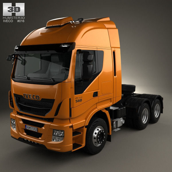 iveco stralis tractor truck 2012 3d cgtrader