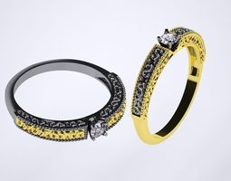 Ring gold accessories 3D print model