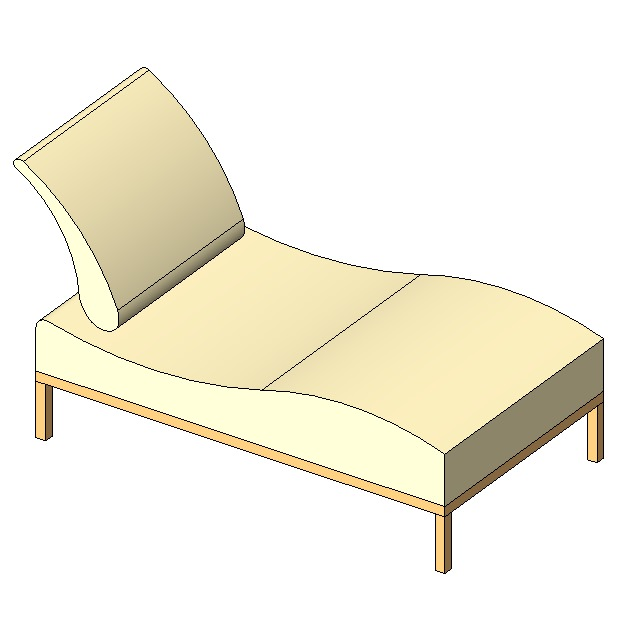 Chaise longue free 3d model rfa for Chaise x racer