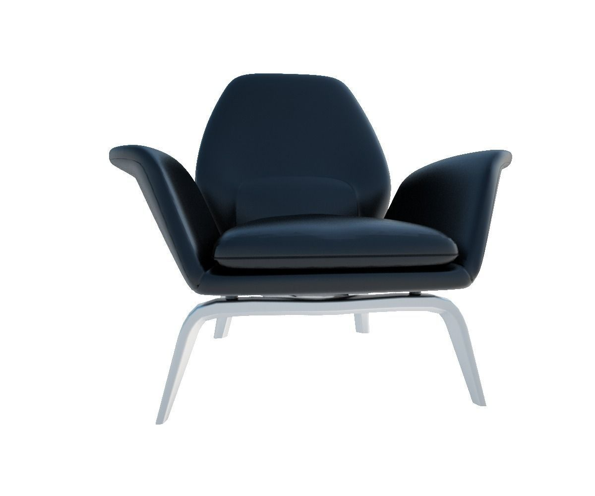 ... Minotti Lounge Chairs Gilliam 3d Model C4d 2 ...