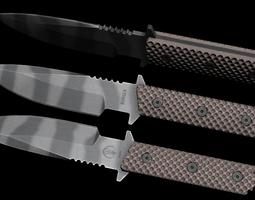 Combat knife 3D asset game-ready