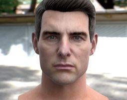 3d model Tom Cruise head VR / AR ready