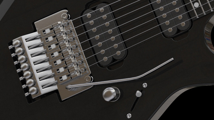 4 Guitars Gibson Les Paul Stratocaster Telecaster Ibanez 3d Model Max