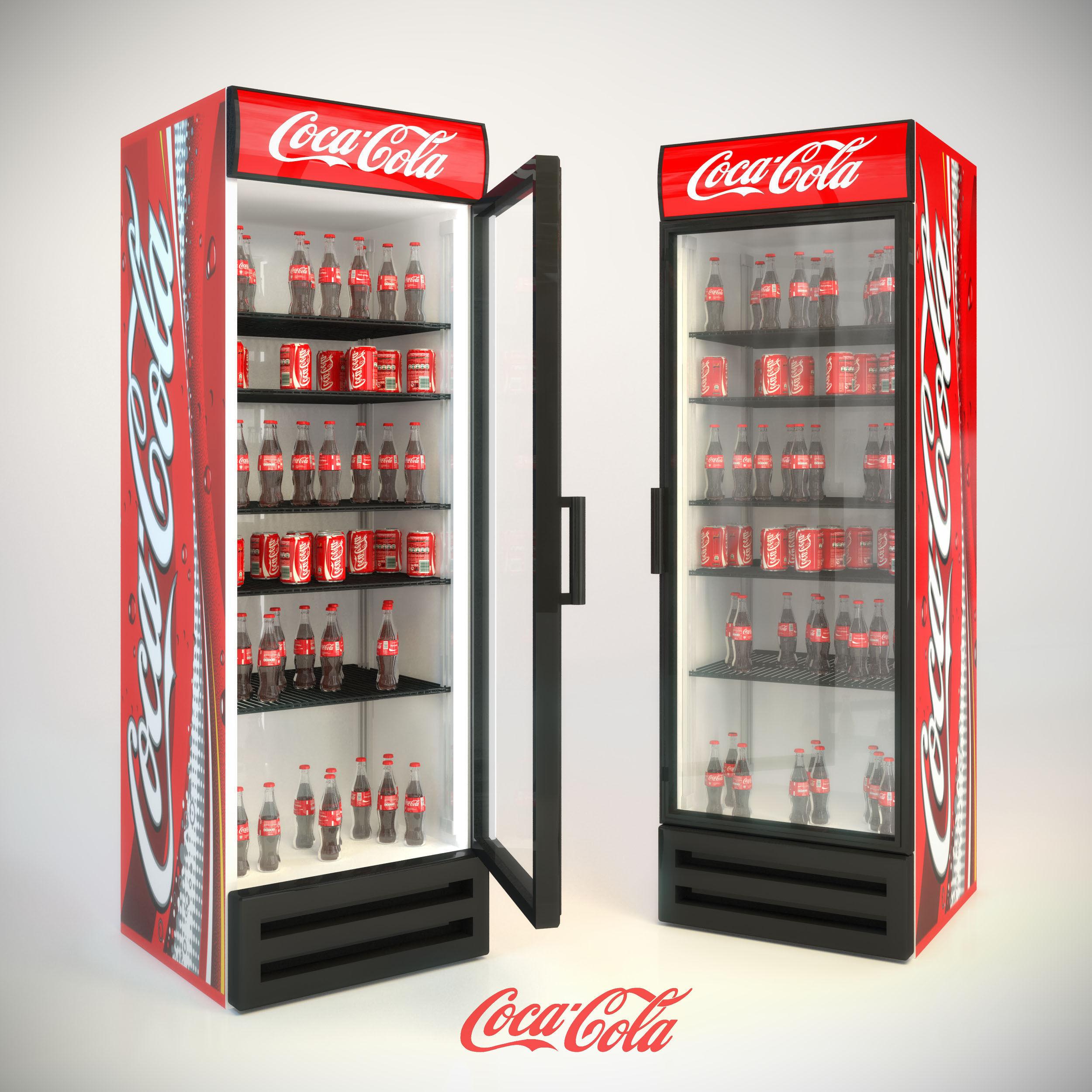 refrigerator coca-cola 3D Model MAX - CGTrader.com