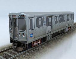 cta 5000 train low-poly 3d model
