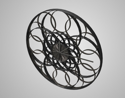 Modern clock 3D model game-ready