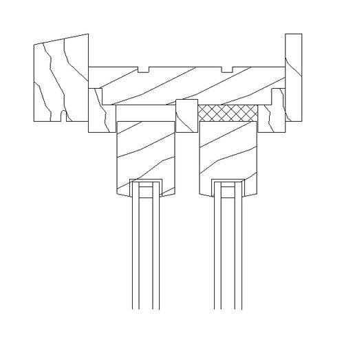 Sliding Window Detail : Wood sliding window head section free d model rfa