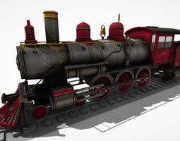 3d model animated VR / AR ready steam locomotive lk 14