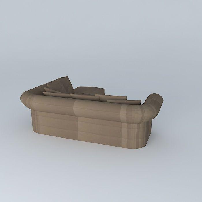 Roma corner sofa taupe houses the world 3d model max obj 3ds fbx stl dae - Sofa roma ...