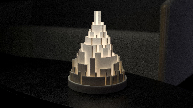 Generative design City maze lamp4