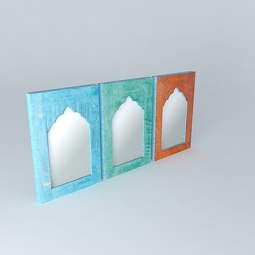 ENS 3 MIRRORS KURTI Maisons Du Monde 3D Model
