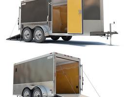 Cargo Trailer 01 3D Model