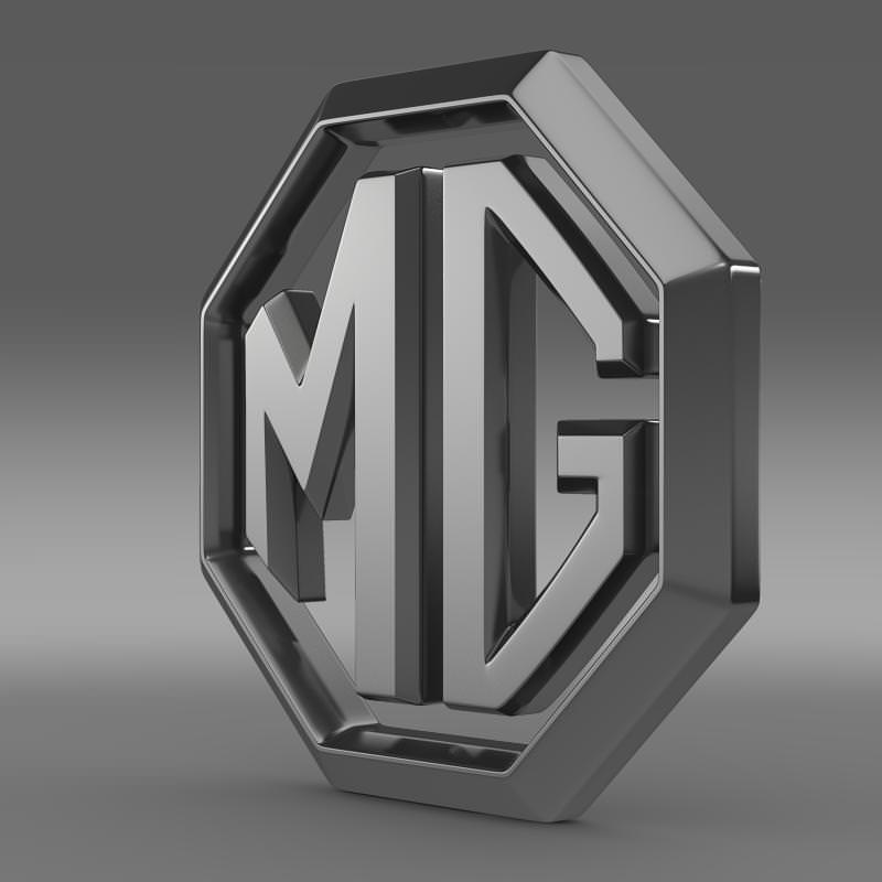MG Logo 3D Model .max .obj .3ds .fbx .c4d .lwo .lw .lws