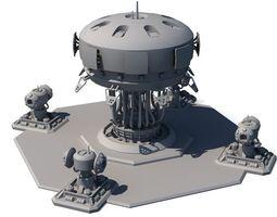 realtime 3d model sci fi building 1504
