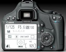 canon 450d 3d model obj 3ds fbx c4d