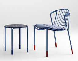 3d tait tidal chair table lounge chair