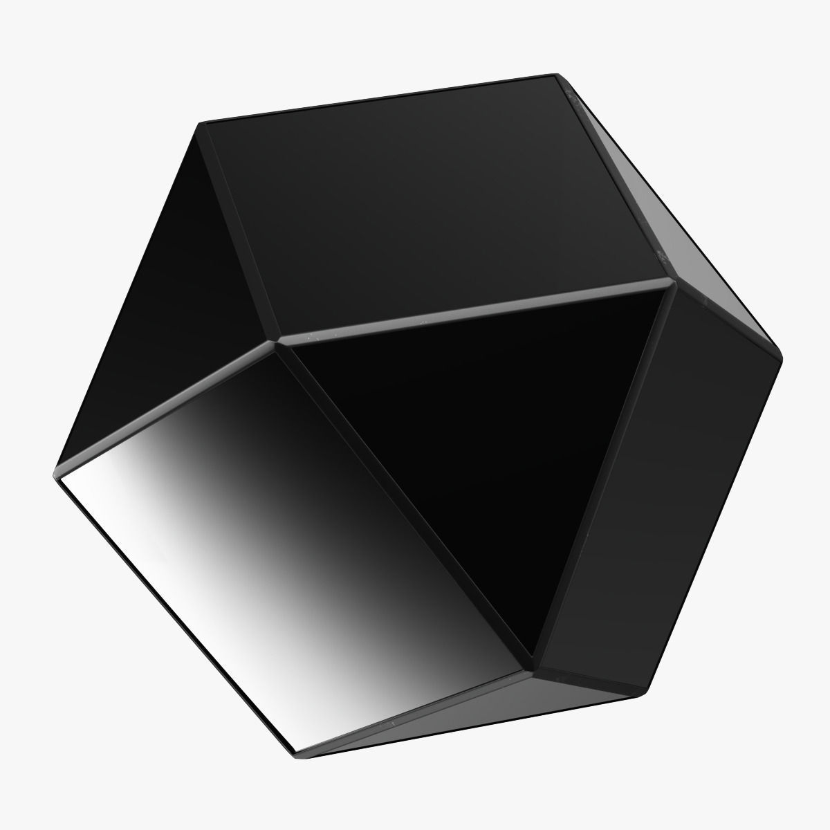 Matty Mirrored Polygon Side Table