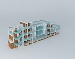 3D small office service building