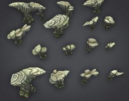 3D asset Rock Formation Pack 1