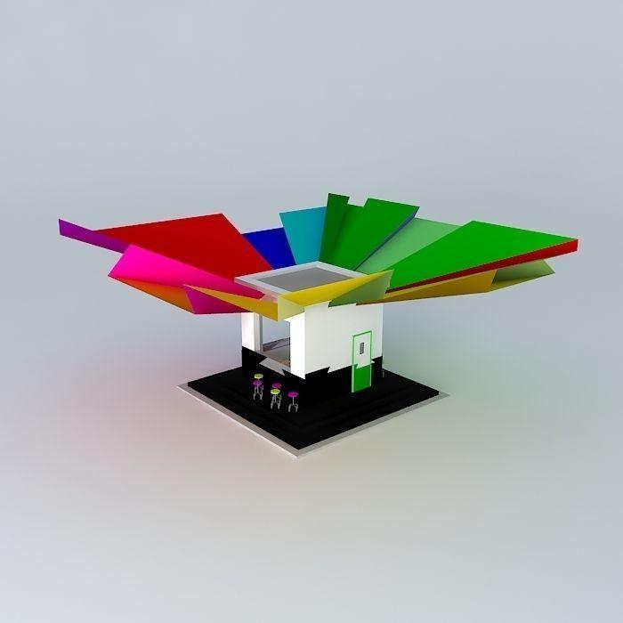 pantalon vans - small driveway cafe 3D Model MAX OBJ 3DS FBX STL DAE   CGTrader.com