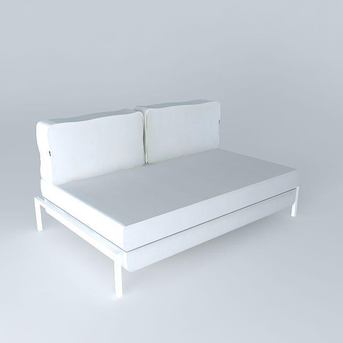 3d Detroit White Sofa Maisons Du Monde Cgtrader